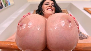 The Titty workout - Legend of Big Tits Returns - DDF Busty