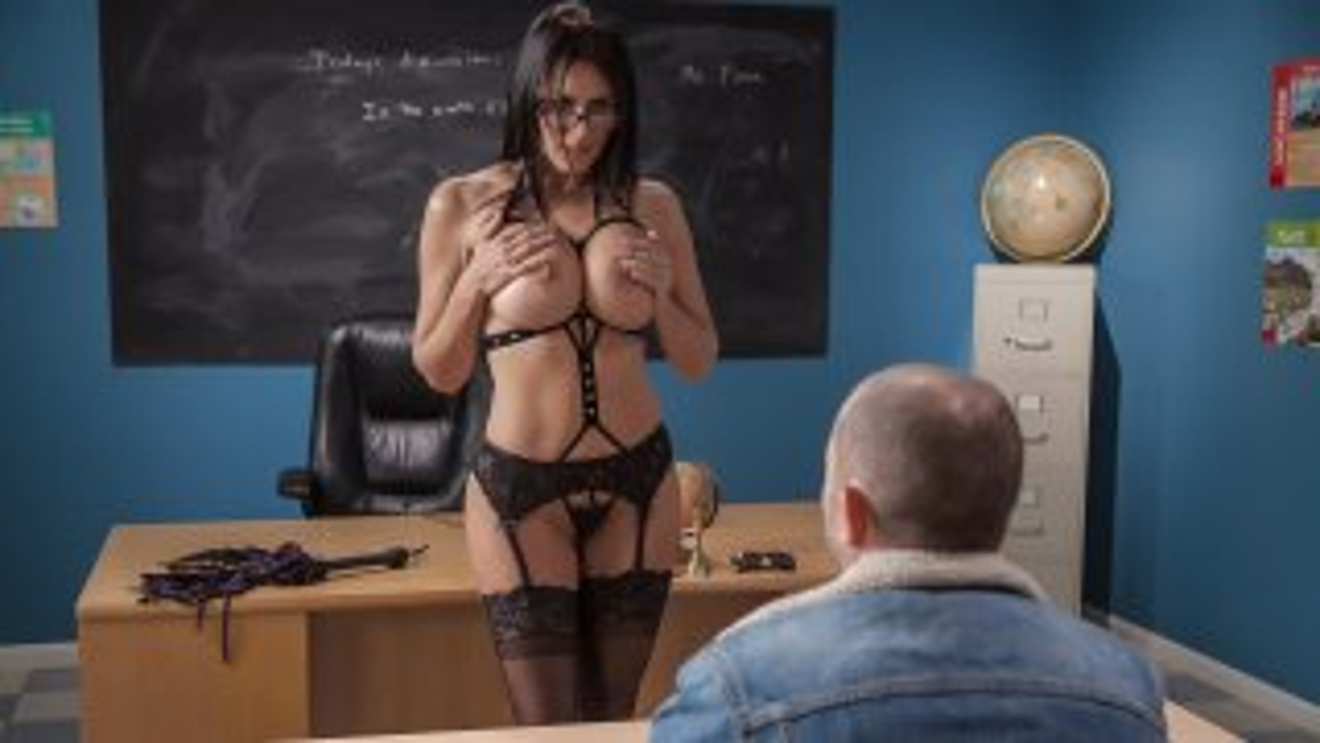 Domme Teacher - Big Tits At School