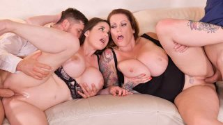 Busty Group Sex Banger - DDF Busty