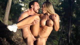 Blondie got fucked in the woods by a lumberman - DDF Busty