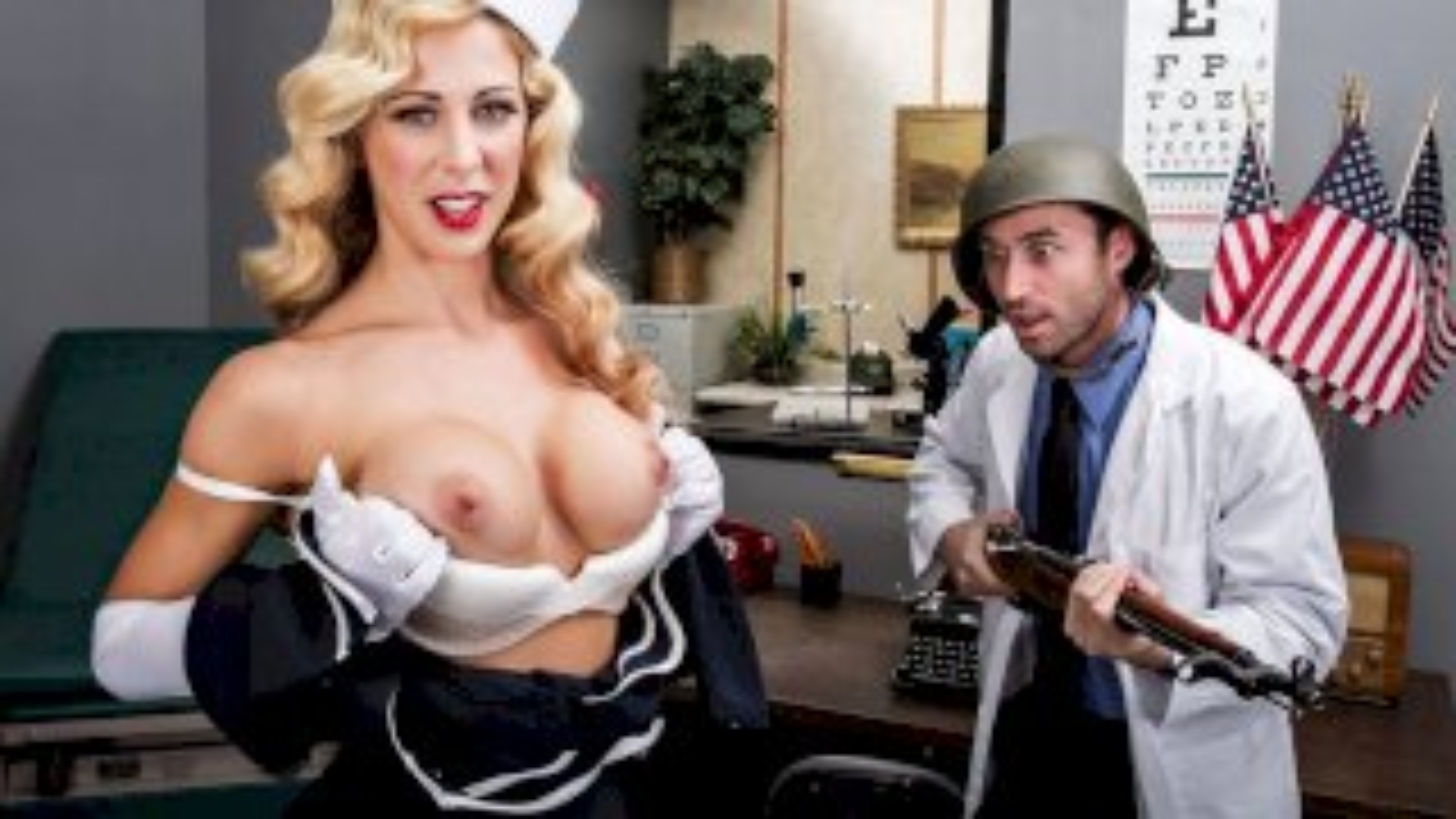 America's Secret Sweetheart - Big Tits In Uniform