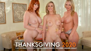 Close friends, Lauren Phillips, Lilly James, and Rachael Cavalli have their share of 'stuffing' for Thanksgiving - T&A